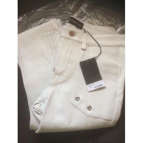 Pantalon slim ZADIG & VOLTAIRE Blanc, blanc cassé, écru
