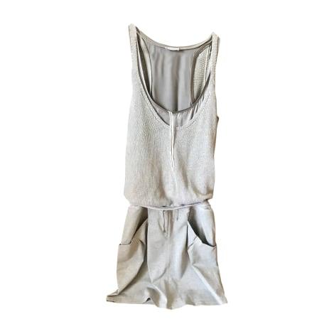Robe courte BRUNELLO CUCINELLI Argenté, acier