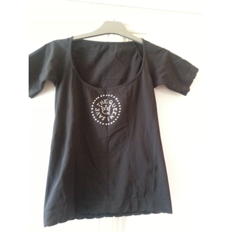 Top, tee-shirt SAVE THE QUEEN Noir