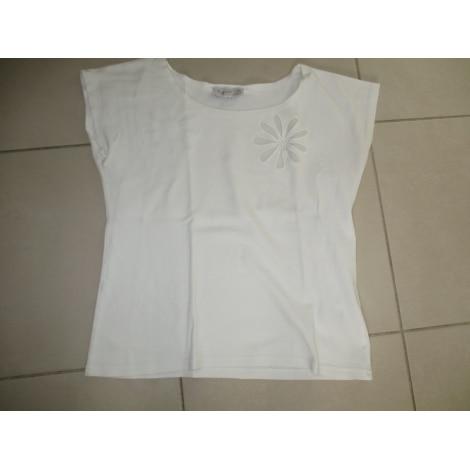 Top, tee-shirt AGNÈS B. Blanc, blanc cassé, écru