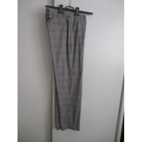 Pantalon droit MONOPRIX Gris, anthracite