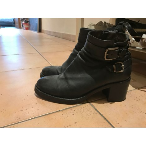 Bottines & low boots à talons GARRICE Bleu, bleu marine, bleu turquoise