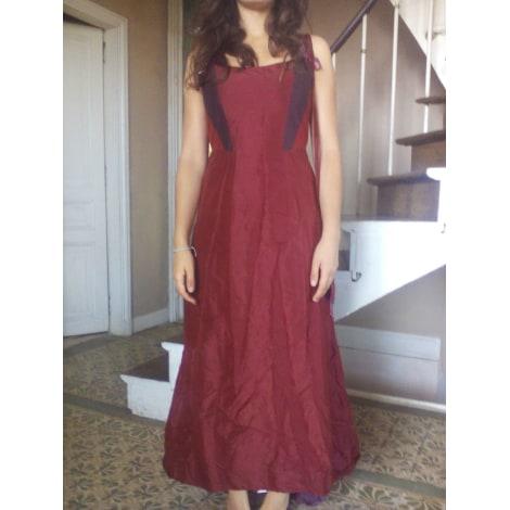 Robe longue CORINNE SARRUT Rouge, bordeaux