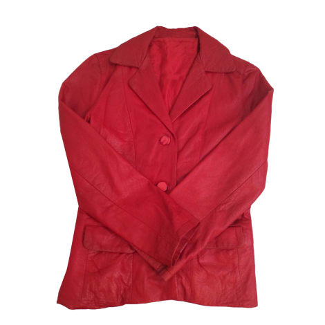 Leather Jacket ZADIG & VOLTAIRE Red, burgundy