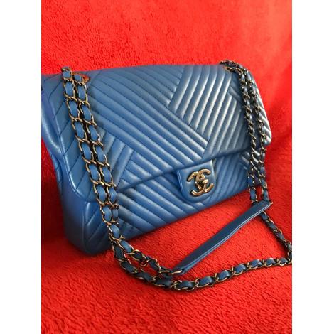 Sac en bandoulière en cuir CHANEL Timeless - Classique Bleu, bleu marine, bleu turquoise