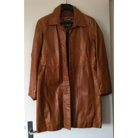 Manteau en cuir DKS Marron