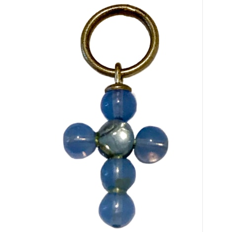 Pendentif, collier pendentif AGATHA Bleu, bleu marine, bleu turquoise