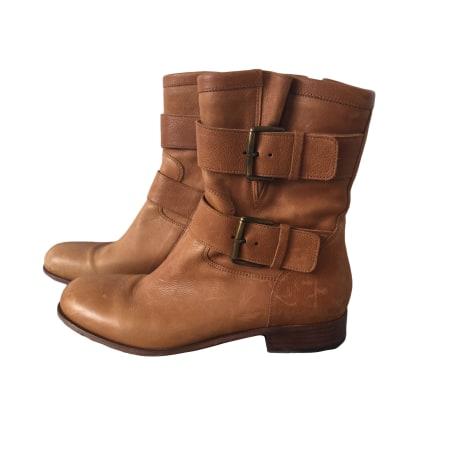 Bottines & low boots plates FREE LANCE Beige, camel