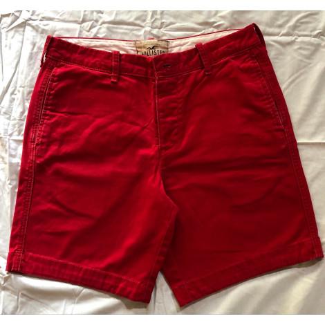 Short HOLLISTER Rouge, bordeaux