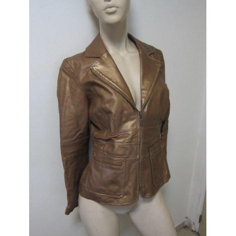 Veste en cuir BERNARDO Doré, bronze, cuivre