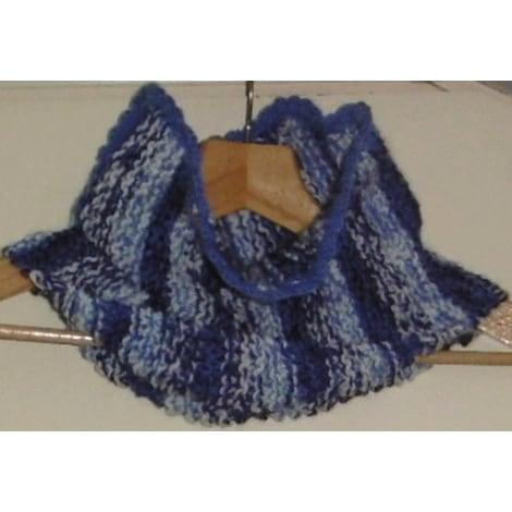 Echarpe FAIT MAIN Bleu, bleu marine, bleu turquoise