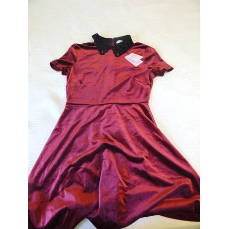 Robe courte PETITES BY MISS SELFRIDGE Rouge, bordeaux