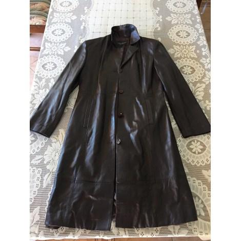 Manteau en cuir DREAMERS Marron