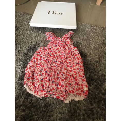 Shorts Set, Outfit BABY DIOR Red, burgundy