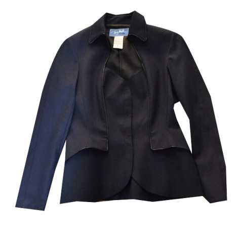 Blazer, veste tailleur THIERRY MUGLER Bleu, bleu marine, bleu turquoise