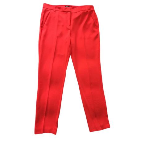 Pantalon droit PINKO Rouge, bordeaux
