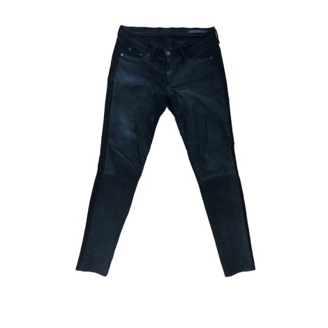 Pantalon slim, cigarette RAG & BONE Noir