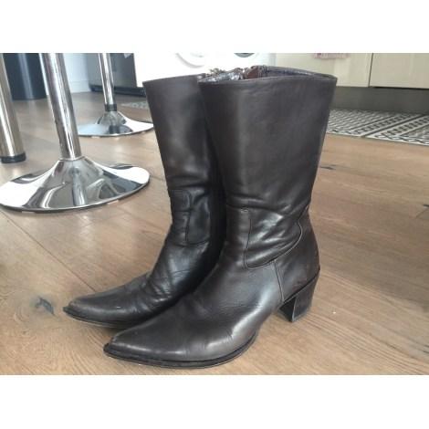 High Heel Ankle Boots COSMOPARIS Brown