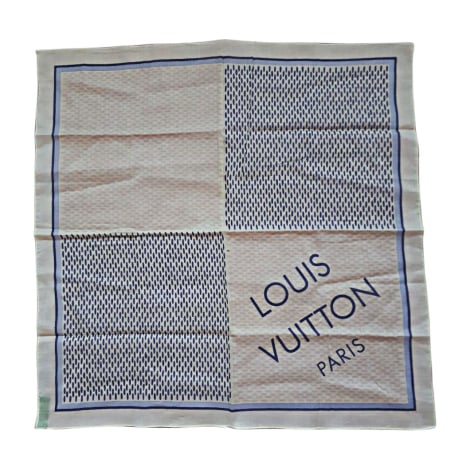 Foulard LOUIS VUITTON Blanc, blanc cassé, écru