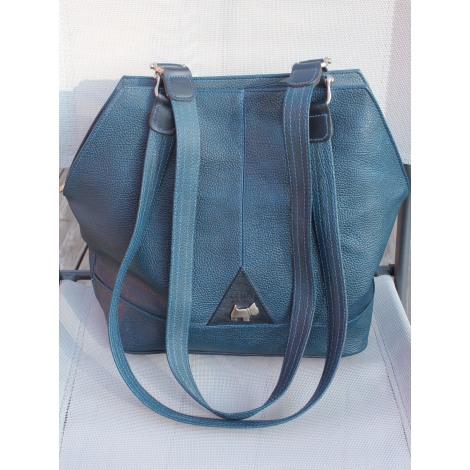 Sac XL en cuir TEXIER Bleu, bleu marine, bleu turquoise