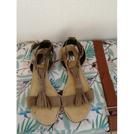 Sandales plates  ZARA Gris, anthracite