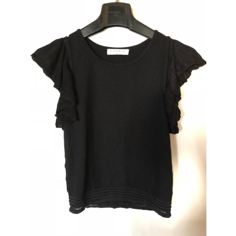 Top, tee-shirt SANDRO Noir