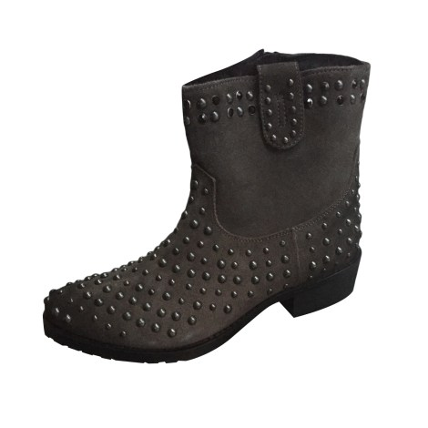 Santiags, bottines, low boots cowboy LOLA CRUZ Kaki