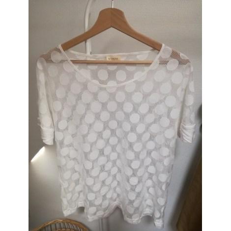 Top, tee-shirt NÜMPH Blanc, blanc cassé, écru
