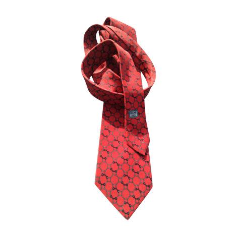 Cravate CÉLINE Rouge, bordeaux