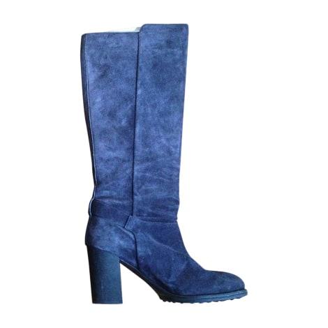 Bottes à talons TOD'S Bleu, bleu marine, bleu turquoise