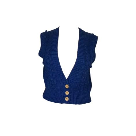 Gilet sans manches SANDRO Bleu, bleu marine, bleu turquoise