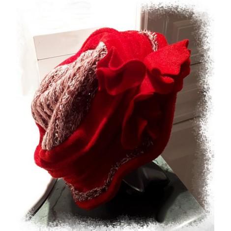 Chapeau LOLLIPOPS DÉGRIFFÉ Rouge, bordeaux