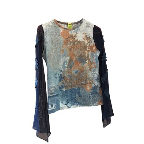 Top, tee-shirt SAVE THE QUEEN Bleu, bleu marine, bleu turquoise