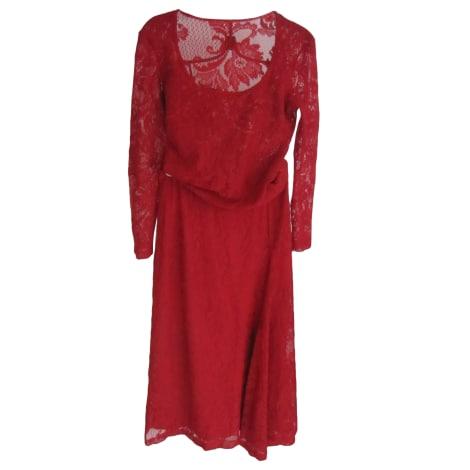 Tailleur jupe CHACOK Rouge, bordeaux