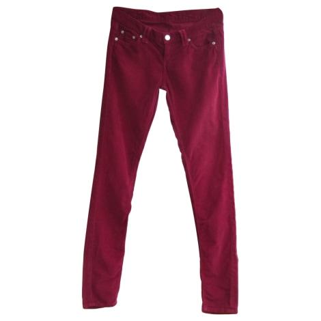 Pantalon slim, cigarette PEPE JEANS Rouge, bordeaux