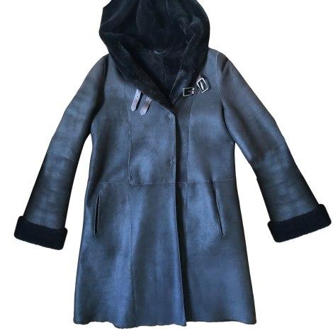 Manteau en fourrure RIZAL Marron