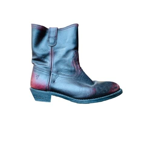 Santiags, bottines, low boots cowboy FRYE Rouge, bordeaux