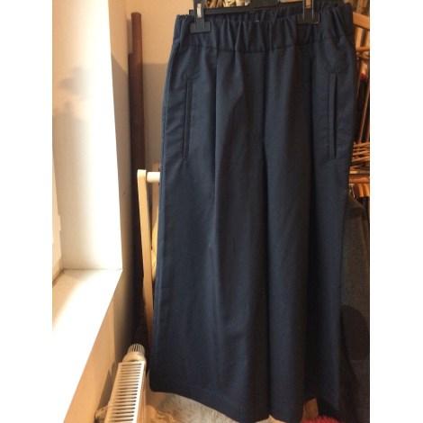 Pantalon large MANGO Noir