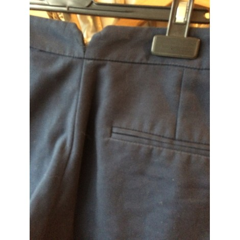 Pantalon slim, cigarette MANGO Bleu, bleu marine, bleu turquoise