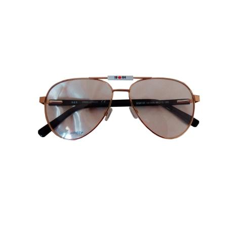 Monture de lunettes DSQUARED2 Doré, bronze, cuivre