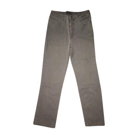 Jeans droit VERSACE Kaki
