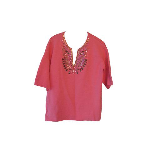 Top, tee-shirt MANOUSH Rose, fuschia, vieux rose