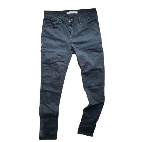 Pantalon slim, cigarette COMPTOIR DES COTONNIERS Bleu, bleu marine, bleu turquoise