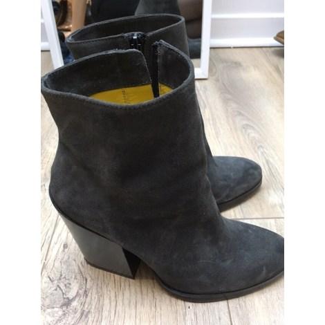 Bottines & low boots à talons ERAM Gris, anthracite