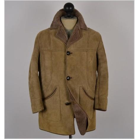 Manteau en cuir NURSEYS Beige, camel
