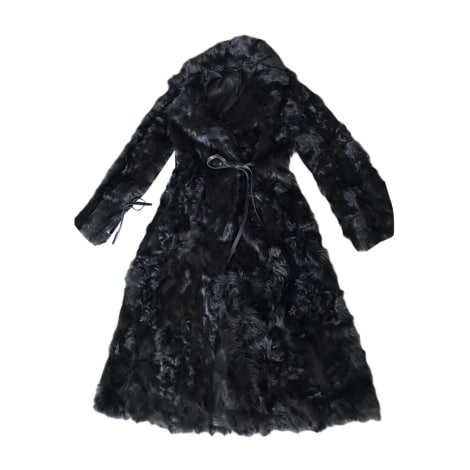 Manteau en fourrure INÈS & MARÉCHAL Noir