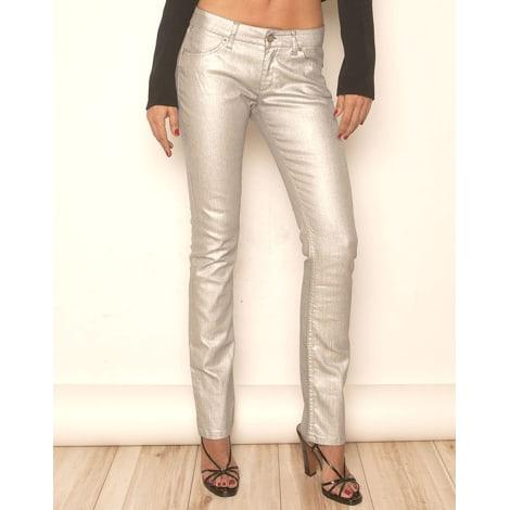 Jeans droit SUPERFINE Argenté, acier
