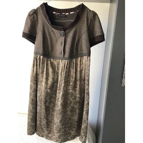 Robe courte IKKS Doré, bronze, cuivre