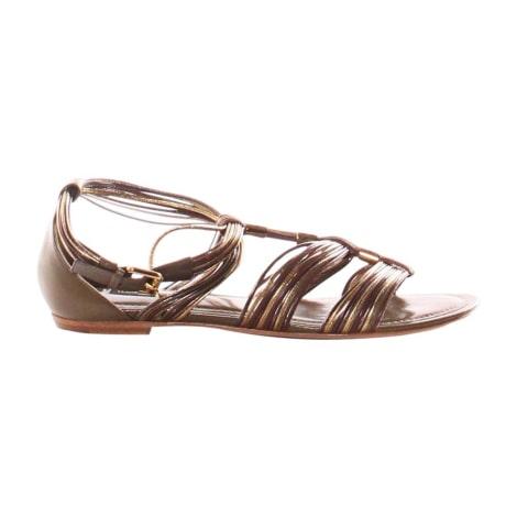 Sandales plates  LOUIS VUITTON Kaki