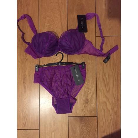 Ensemble, parure lingerie IMPLICITE Violet, mauve, lavande